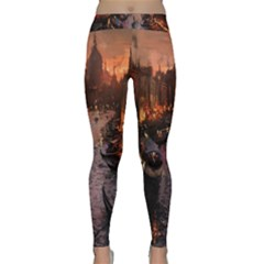 River Venice Gondolas Italy Artwork Painting Classic Yoga Leggings