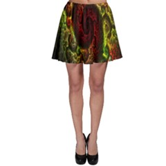 Fractal Digital Art Skater Skirt