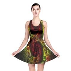 Fractal Digital Art Reversible Skater Dress