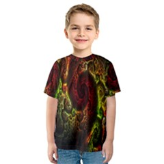 Fractal Digital Art Kids  Sport Mesh Tee