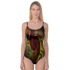 Fractal Digital Art Camisole Leotard