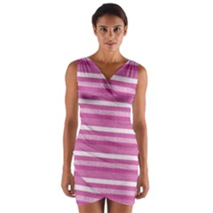 Lines Wrap Front Bodycon Dress