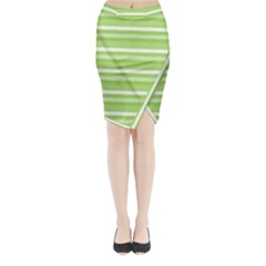 Lines Midi Wrap Pencil Skirt