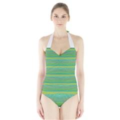 Lines Halter Swimsuit
