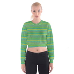 Lines Women s Cropped Sweatshirt