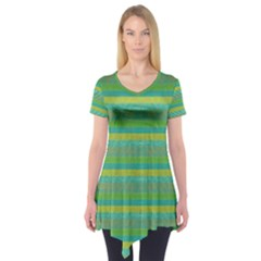 Lines Short Sleeve Tunic