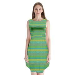 Lines Sleeveless Chiffon Dress
