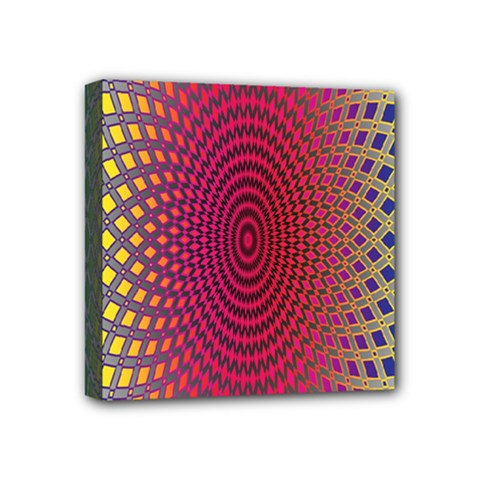 Abstract Circle Colorful Mini Canvas 4  X 4