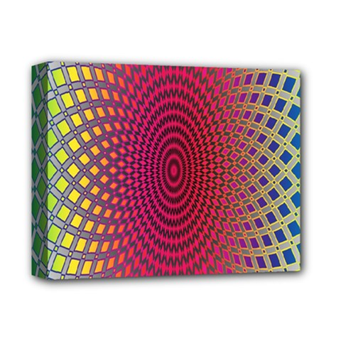 Abstract Circle Colorful Deluxe Canvas 14  x 11