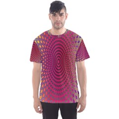 Abstract Circle Colorful Men s Sport Mesh Tee