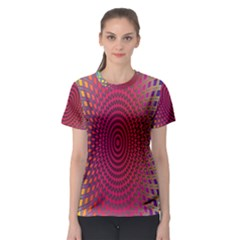 Abstract Circle Colorful Women s Sport Mesh Tee
