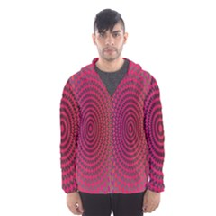 Abstract Circle Colorful Hooded Wind Breaker (men)