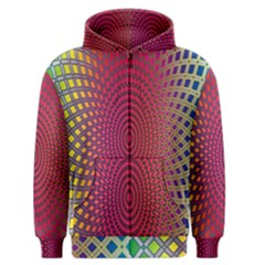 Abstract Circle Colorful Men s Zipper Hoodie