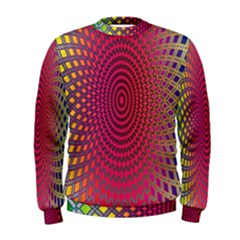 Abstract Circle Colorful Men s Sweatshirt