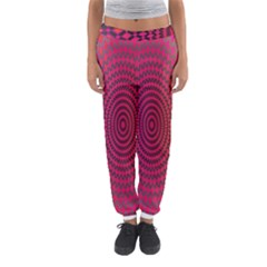 Abstract Circle Colorful Women s Jogger Sweatpants