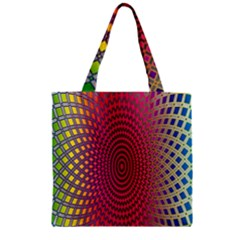 Abstract Circle Colorful Zipper Grocery Tote Bag