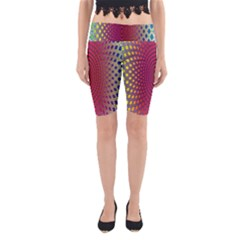 Abstract Circle Colorful Yoga Cropped Leggings
