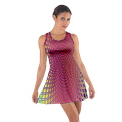 Abstract Circle Colorful Cotton Racerback Dress