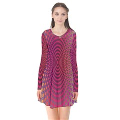 Abstract Circle Colorful Flare Dress