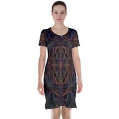 Digital Art Short Sleeve Nightdress