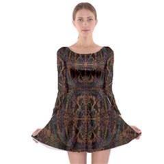Digital Art Long Sleeve Skater Dress
