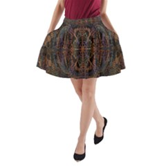 Digital Art A-Line Pocket Skirt