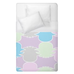 Pineapple Puffle Blue Pink Green Purple Duvet Cover (single Size)