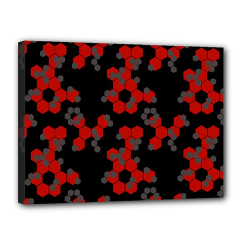 Red Digital Camo Wallpaper Red Camouflage Canvas 16  X 12