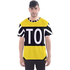 Road Sign Stop Men s Sport Mesh Tee