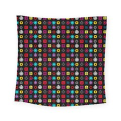 N Pattern Holiday Gift Star Snow Square Tapestry (small)