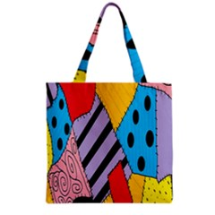 Sally s Patchwork Pattern Grocery Tote Bag