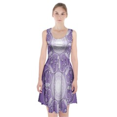 Purple Background With Artwork Racerback Midi Dress