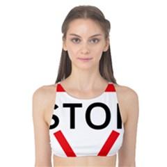 Stop Sign Tank Bikini Top