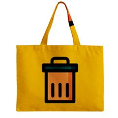 Trash Bin Icon Yellow Mini Tote Bag