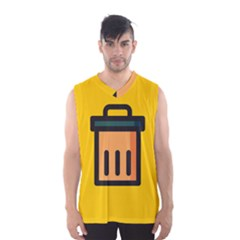 Trash Bin Icon Yellow Men s Basketball Tank Top