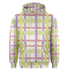 Webbing Plaid Color Men s Pullover Hoodie
