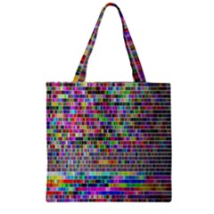 Plasma Gradient Phalanx Zipper Grocery Tote Bag