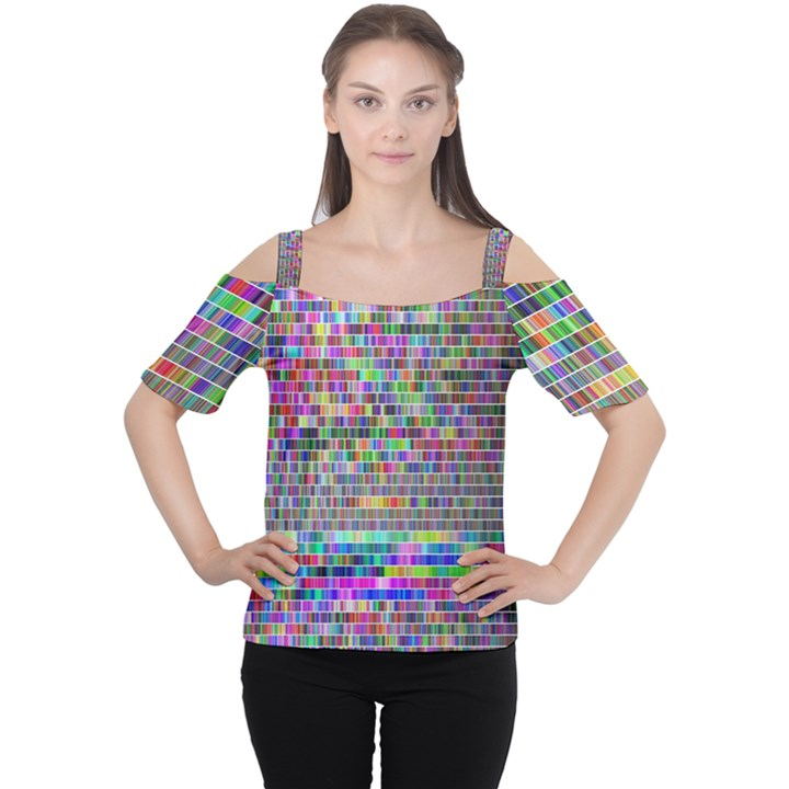 Plasma Gradient Phalanx Women s Cutout Shoulder Tee
