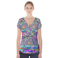 Plasma Gradient Phalanx Short Sleeve Front Detail Top