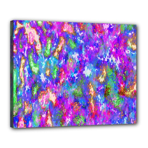 Abstract Trippy Bright Sky Space Canvas 20  X 16