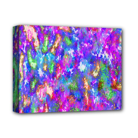 Abstract Trippy Bright Sky Space Deluxe Canvas 14  x 11