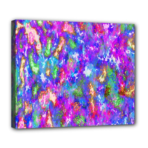 Abstract Trippy Bright Sky Space Deluxe Canvas 24  x 20