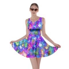 Abstract Trippy Bright Sky Space Skater Dress
