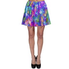 Abstract Trippy Bright Sky Space Skater Skirt