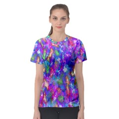 Abstract Trippy Bright Sky Space Women s Sport Mesh Tee