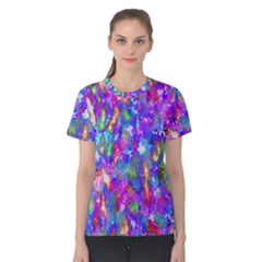 Abstract Trippy Bright Sky Space Women s Cotton Tee