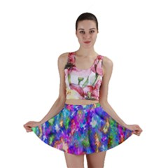 Abstract Trippy Bright Sky Space Mini Skirt