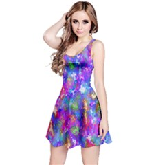 Abstract Trippy Bright Sky Space Reversible Sleeveless Dress