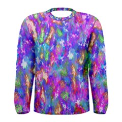 Abstract Trippy Bright Sky Space Men s Long Sleeve Tee