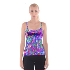 Abstract Trippy Bright Sky Space Spaghetti Strap Top